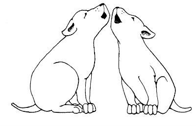 Cachorros aullando